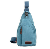 Tactical Military Canvas messenger bag -blue