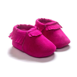 Moccasins Fringe Shoes for Newborn Baby Soft Sole Non Slip Leather Moccs Crib Shoes free promo