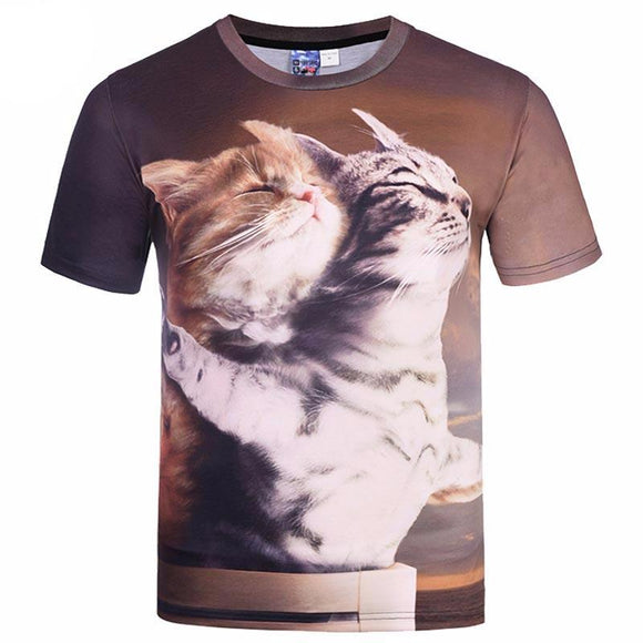 Cat Lovers T-Shirt Titanic Cats
