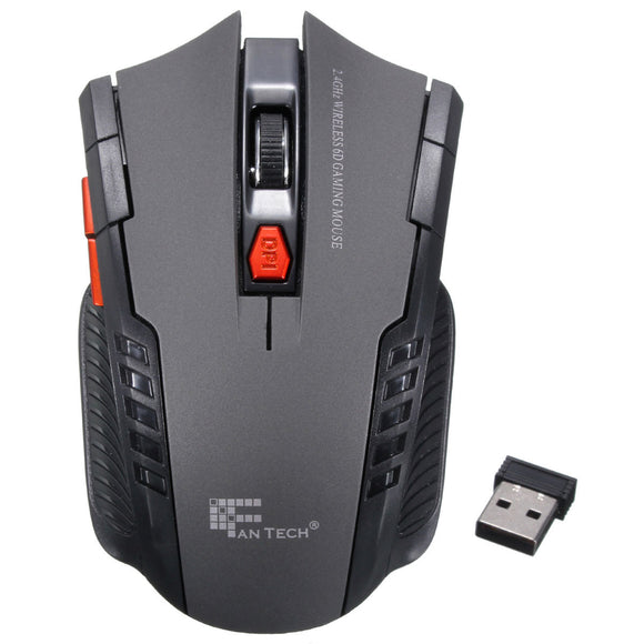 New 2.4Ghz Mini Portable Wireless Mouse Adjustable 2000DPI Optical Professional Game Gaming Mouse