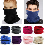 New Multi-functional 3-In-1 Scarf Unisex Fleece Snood Scarf Neck Warmer Beanie Ski Balaclava _ Blue