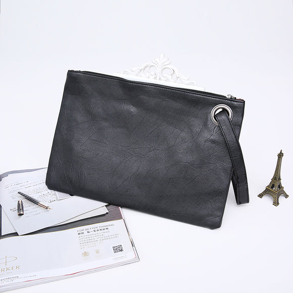 Quality Leather Casual Clutch Purse black color clutch
