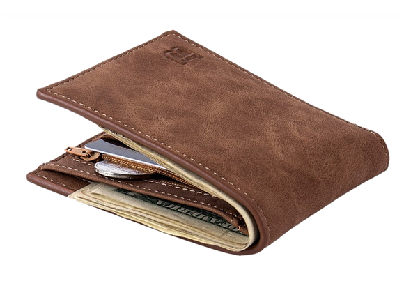 FREE! Quality Leather Men's Wallets w/ Card and Coin Holder