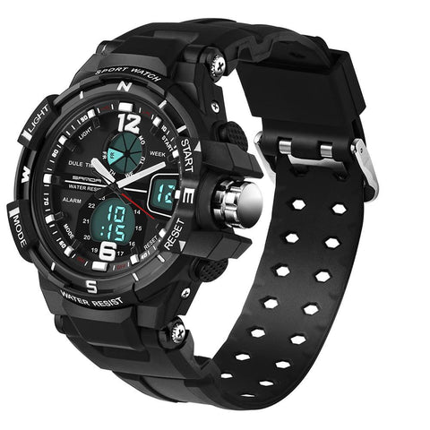 Waterproof Shock Resistant Military Quartz LED Watch