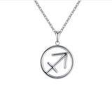 Sagittarius Zodiac sign symbol high quality Silver necklace