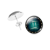 Gemini zodiac sign Stud Earrings