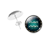 Aquarius zodiac sign Stud Earrings