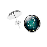 Leo zodiac sign Stud Earrings
