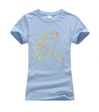 Horse Print Fitted TShirt