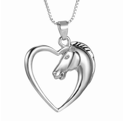 Stallion Heart Silver Plated Necklace