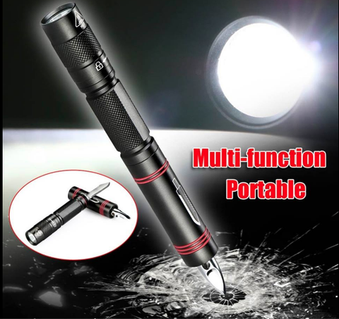 Tactical Self Defence Multifunction LED Flashlight Pen