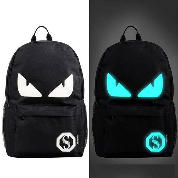 Trendy glow in the dark backpack