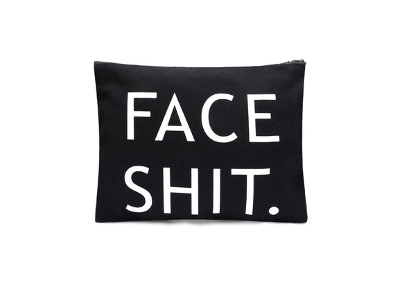 Shit Face Makeup Cosmetic bag in black color