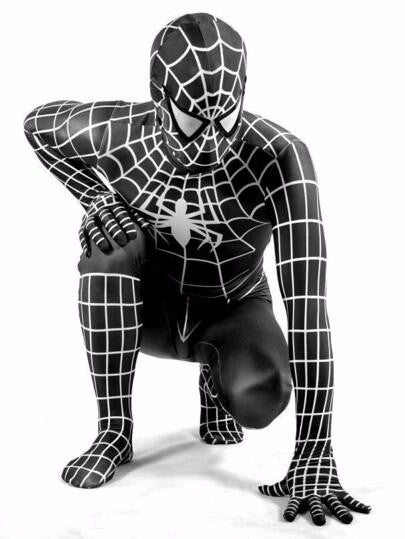 Spiderman Symbiote Costume for Adult Spiderman Halloween Cosplay Costume