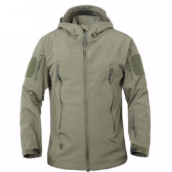High Quality Tactical Soft Shell Waterproof Windproof Windbreaker Jacket