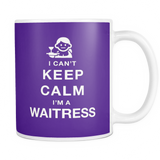 I can't keep calm i'm a waitress coffee mug_purple