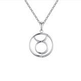 Taurus Zodiac sign symbol high quality Silver necklace