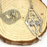 Skyrim Elder Scrolls Dragon Pendant Necklace