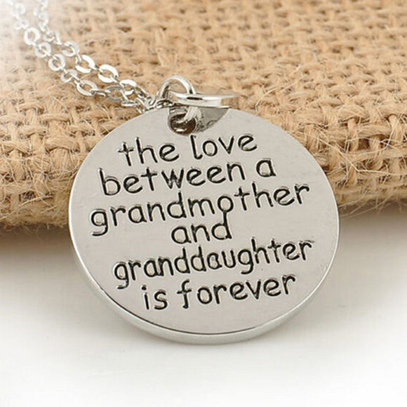 Love Between a Grandmother and Granddaughter is Forever Pendants Necklaces