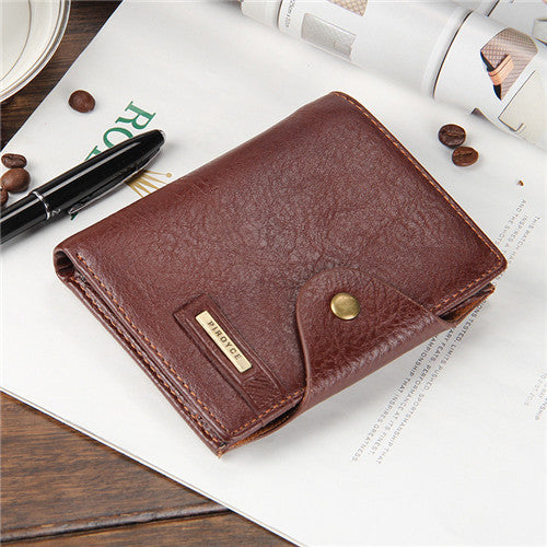 Free! Ultrathin Genuine Leather Mens Wallet