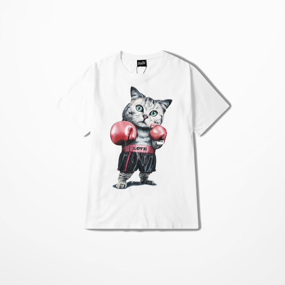 Cat Lovers Love Boxing Cat T-Shirt
