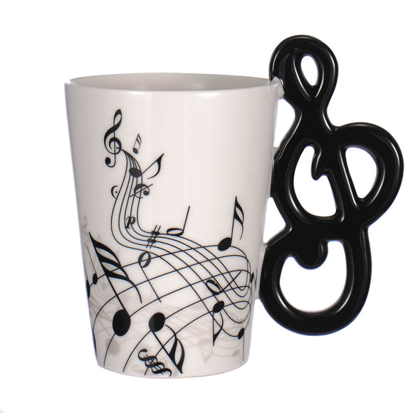 music note handle coffee cups unique design coffee cups
