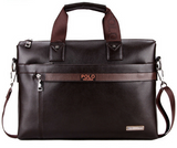 VICUNA POLO Business Men Briefcase Luxury Leather Laptop Bag brown