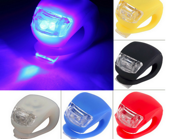 Waterproof Silicone Front/Rear Bike LED Lights