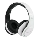 Wireless Bluetooth Foldable Headphones TF card with Mic Microphone-white