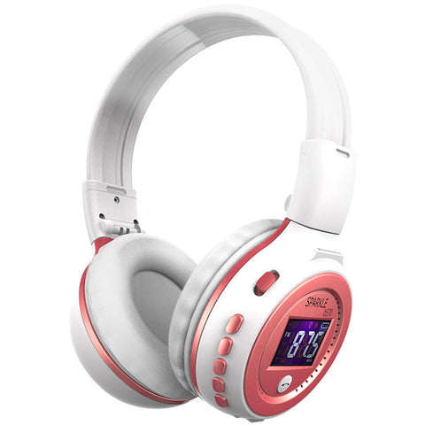 Super Comfortable Wireless Bluetooth Foldable Headphone With LCD Screen MP3 Player Micro-SD Slot