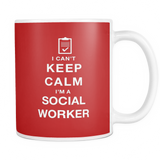 I can't keep calm i'm a social worker coffee mug_red