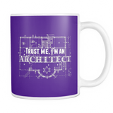 Trust me i'm an architect coffee mug_purple