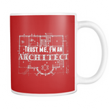Trust me i'm an architect coffee mug_red