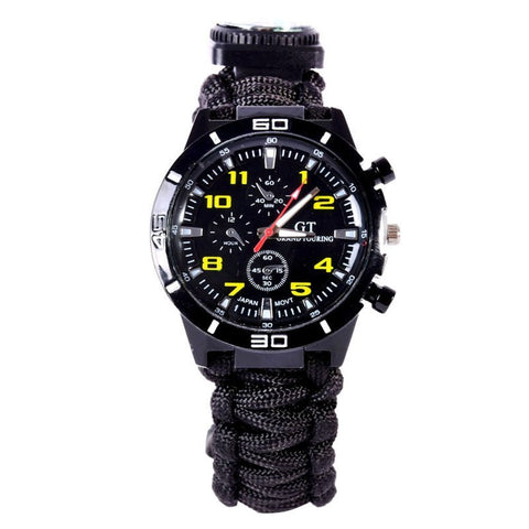 Survival Paracord Wrist Watch