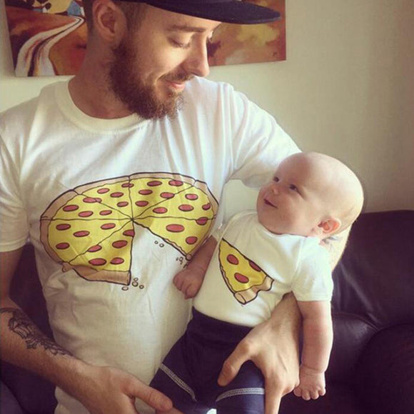 Pizza Slice Dad & Son T-Shirts