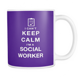 I can't keep calm i'm a social worker coffee mug_purple