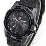 Military Canvas Belt Luminous Quartz Watch