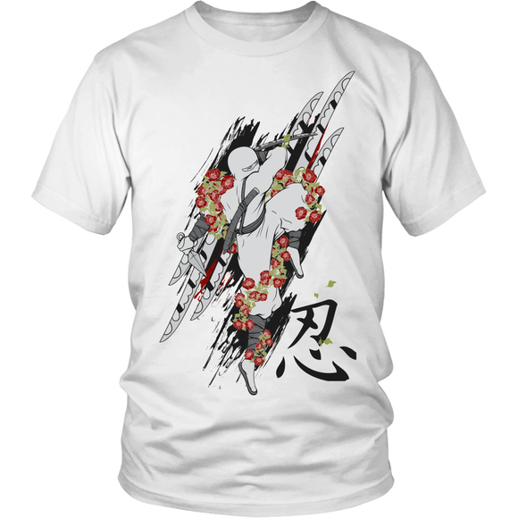Men's T-shirt and Sweatshirts with Ninja Samurai Art Painting