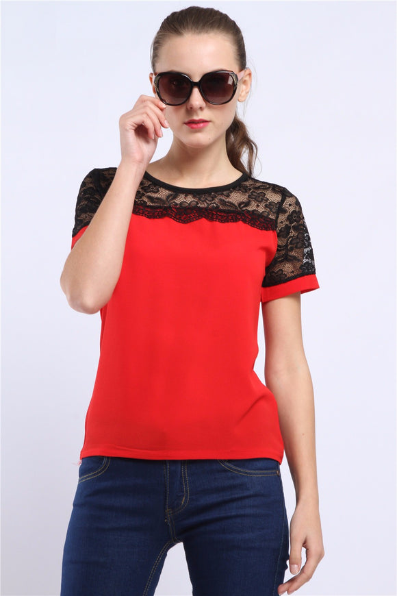 short sleeve blouse for women