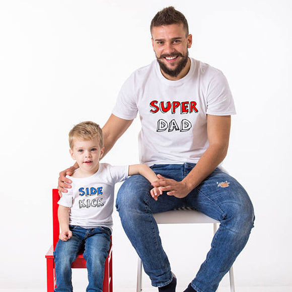 Super Dad & Side Kick Dad and Son T-Shirt