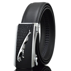 Genuine Luxury leather Belt No Magnet Auto Buckle Business Fashion Men's Belt