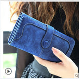 Fab Fashion Retro Stitching Wallet Long Purse Clutch