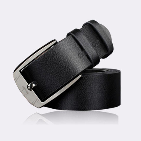 luxury style men's leather belts metal buckle free+ shipping