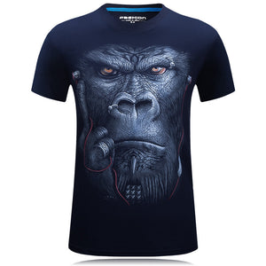 3D Print T Shirt Men Hip Hop T-shirt 5XL 6XL Plus Size Mens Funny T Shirts Animals Print Tee Shirt
