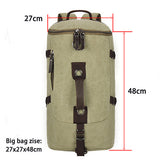 Large Capacity Quality Canvas Bucket Backpack