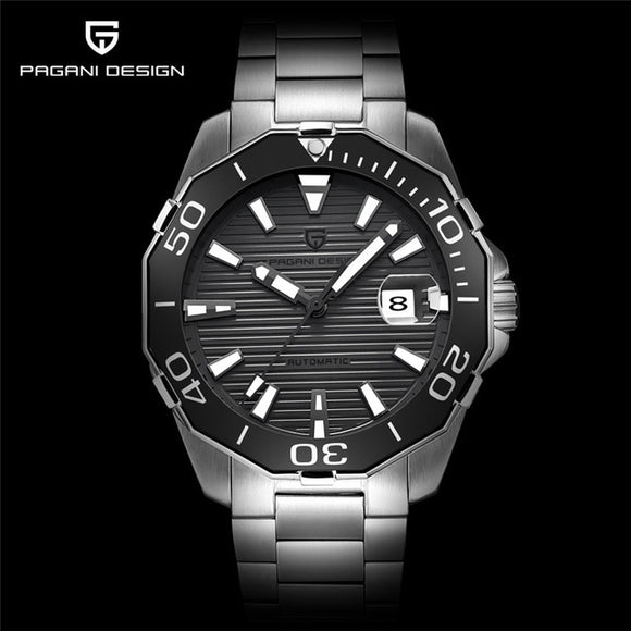 PAGANI Designer Men's Classic Diving Series Mechanical Waterproof Wrist Watch Steel Stainless Brand Luxury Watch