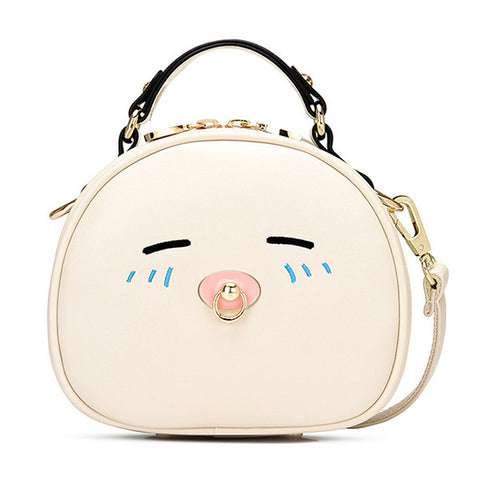 Quaility Mini Shoulder Bag with Cute Cat Face Handbag