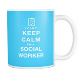 I can't keep calm i'm a social worker coffee mug_light blue