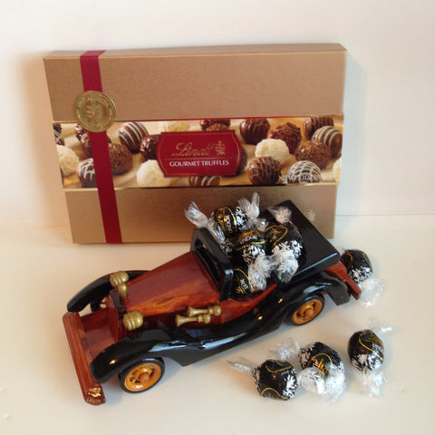 Wooden Car with Chocolates