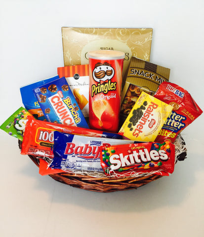 Snack Time Gift Basket